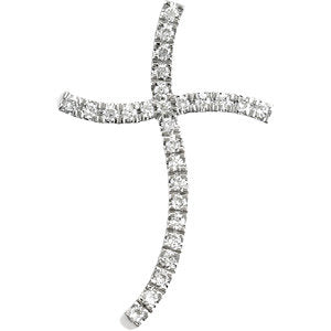 Wavy Cross Pendant