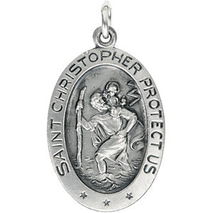 St. Christopher Medal Necklace or Pendant