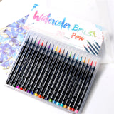 20 Color Watercolor Brush Pen Set