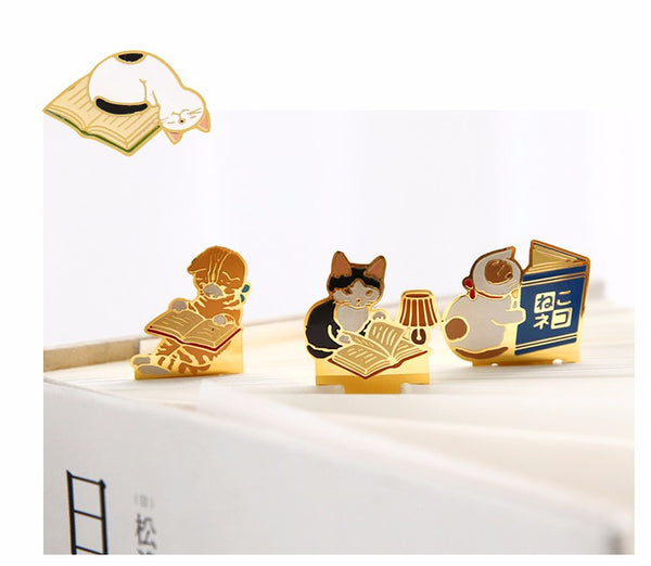 4 PCS Cat Bookmark Set