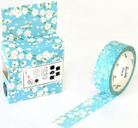White Sakura Spring Flowers Washi Tape