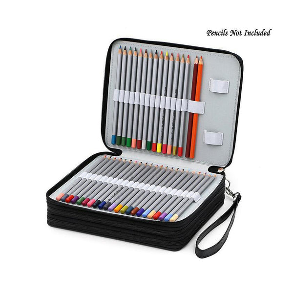 PU Leather 124 Pens / Pencil Case Holder