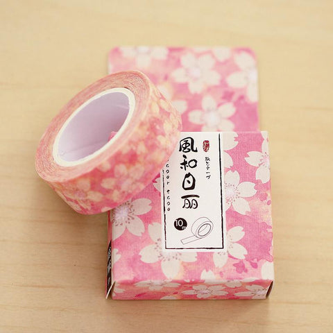 Pink Flower Pattern Washi Tape