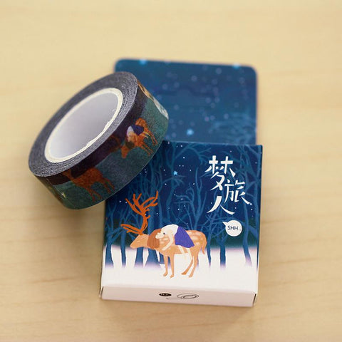 Girl on Deer Washi Tape