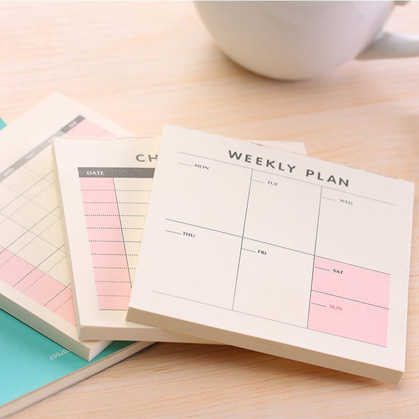 Cute Memo for Weekly, Monthly or To-Do List