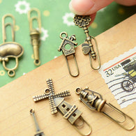 16 Pcs Vintage Metal Clip/Bookmarks