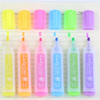 6 Pcs Fluorescent Highlighter Pen/Marker