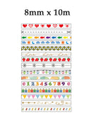 Slim Washi Tape (14 designs)