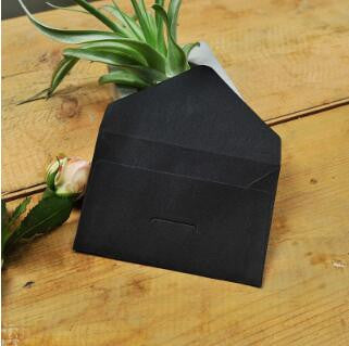 50 PCS Black Envelopes