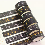 Gold & Silver Moon & Stars Washi Tape