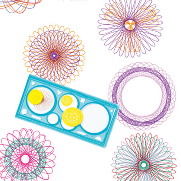 2 PCS Spirograph Geometric Drawing Tool Set