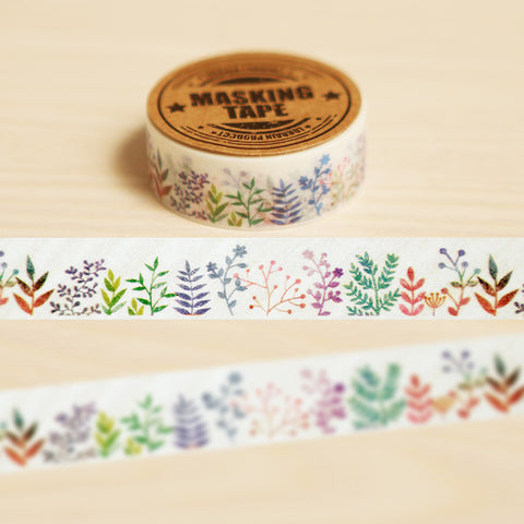 Colorful Plants Washi Tape