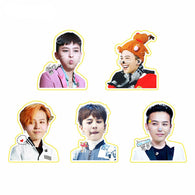 Big Bang G-Dragon Kpop Stickers (5 Designs)