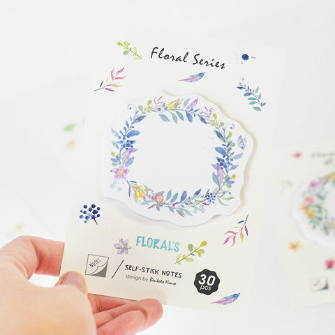 Floral Wreath Sticky Notes (4 Designs)