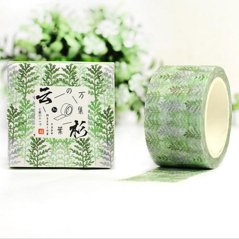 Spruce Leaves Washi Tape