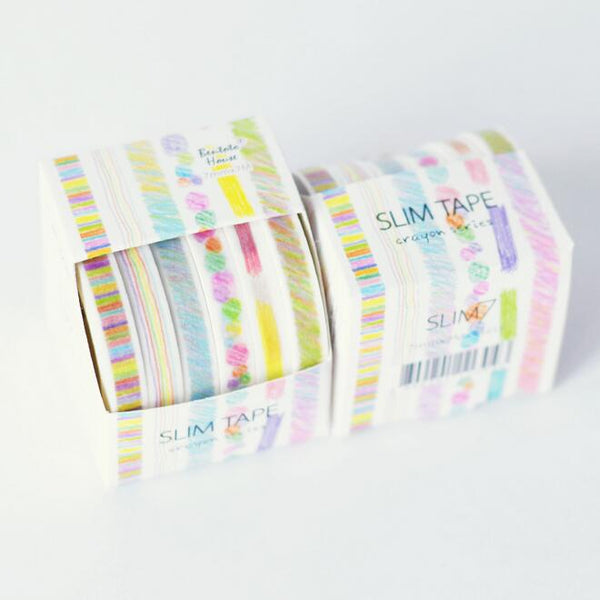 6 Pcs/ Set Crayon Series Washi Tape