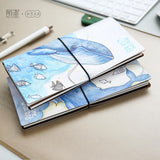 Blue Whale PU Leather Traveler's Notebook
