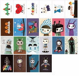 52 Pcs Cartoon Cute Label Stickers