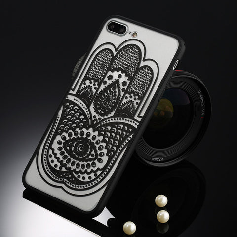 Lacey Mandala Black Floral iPhone Case