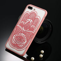 Lacey Mandala Pink Floral iPhone Case