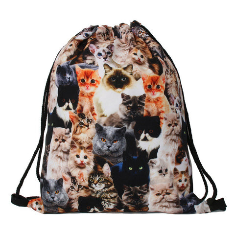 Cats Drawstring Backpack