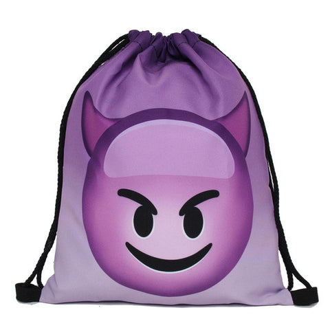 Purple Devil Drawstring Backpack