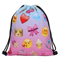 Large Emoji Drawstring Backpack