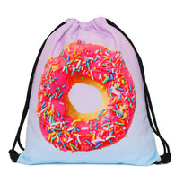 Donut Drawstring Backpack