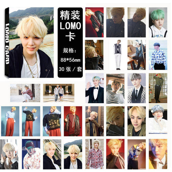 30 Pcs BTS Suga Lomo Cards Set (3 Designs)