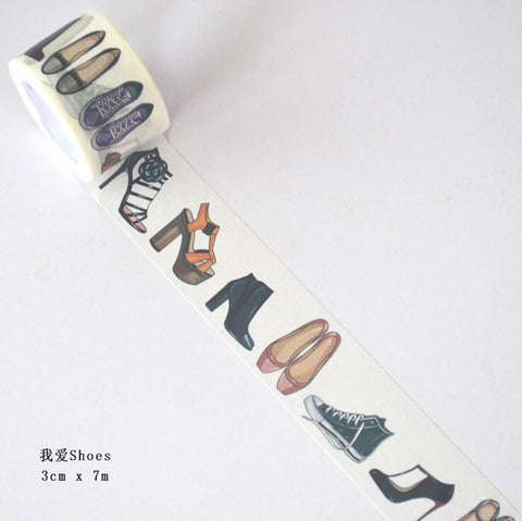 Lovely Shoes and Heels Wide Washi Tape