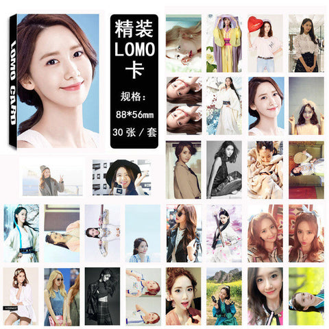 30 PCS SNSD Girls' Generation Yoona Lomo Photo Card Set