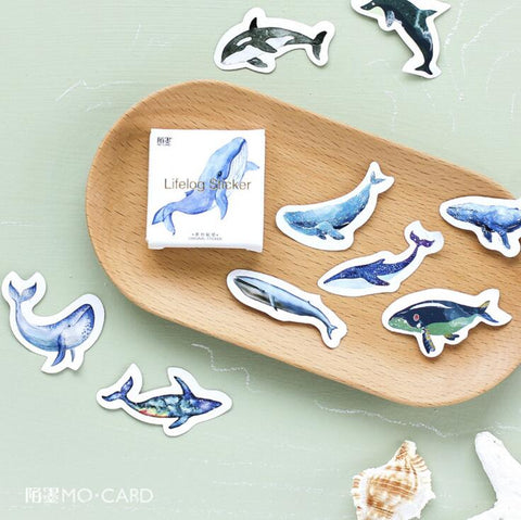 45 pcs / pack Whale Label Stickers