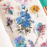 20 Pcs Colorful Flowers Stickers