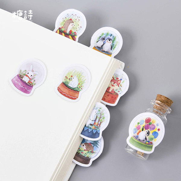 45 Pcs Snowglobes Stickers