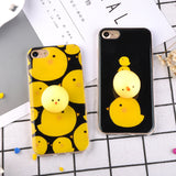 Kawaii Chick iPhone Case with 3D Squishy