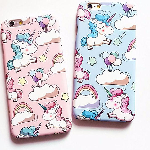 Unicorn and Rainbows Hard iPhone Case