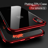 iPhone X Transparent Soft TPU Case