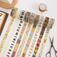 Vintage Themed Washi Tape Set