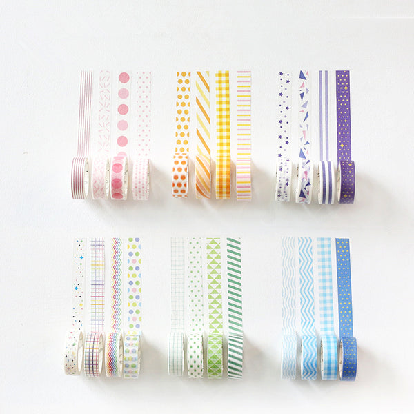 4 PCS Rainbow Patterns Washi Tape