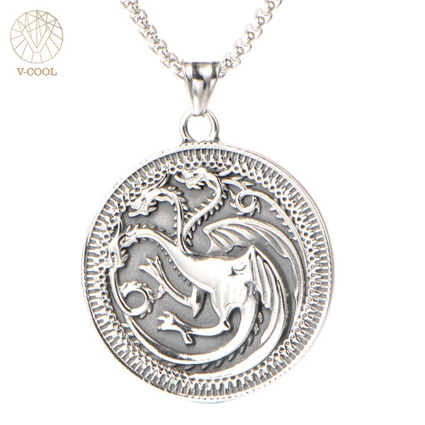Game Of Thrones - Targaryen Three Headed Dragon Necklace