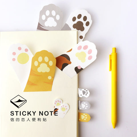 6 PCS Cute Japnese Cat Paw Sticky Notes