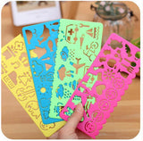 4 Pcs Decorative Color Stencils Set