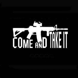 Come Take It Vinyl Decal 2nd Amendment Car Sticker