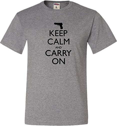 Keep Calm And Carry On 2nd Amendment Men Short O-Neck Tee Shirts