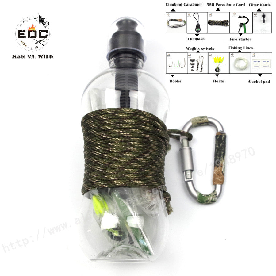 10 in1 Self Help Outdoor Camping Hiking Emergency Survival Gear