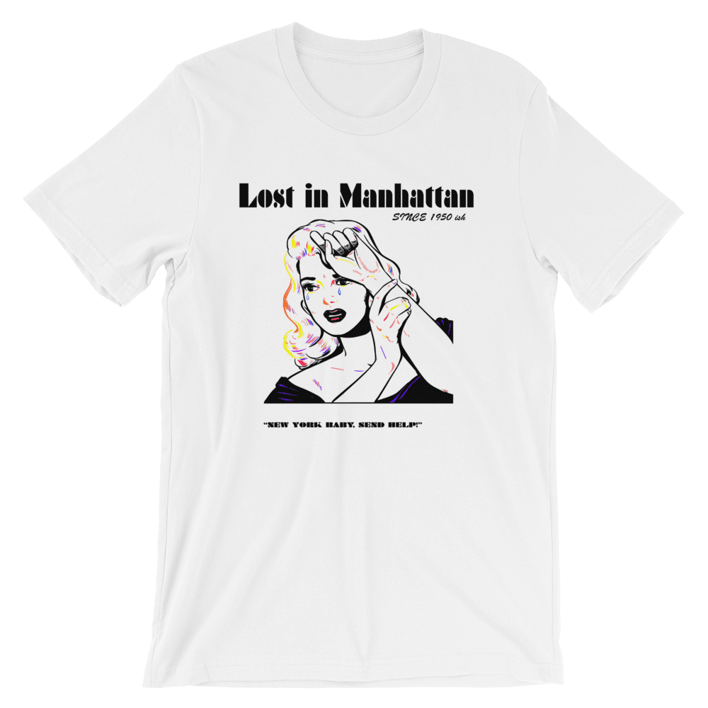 Lost In Manhattan Unisex T-Shirt, Limited Edition, White, PHD TEE
