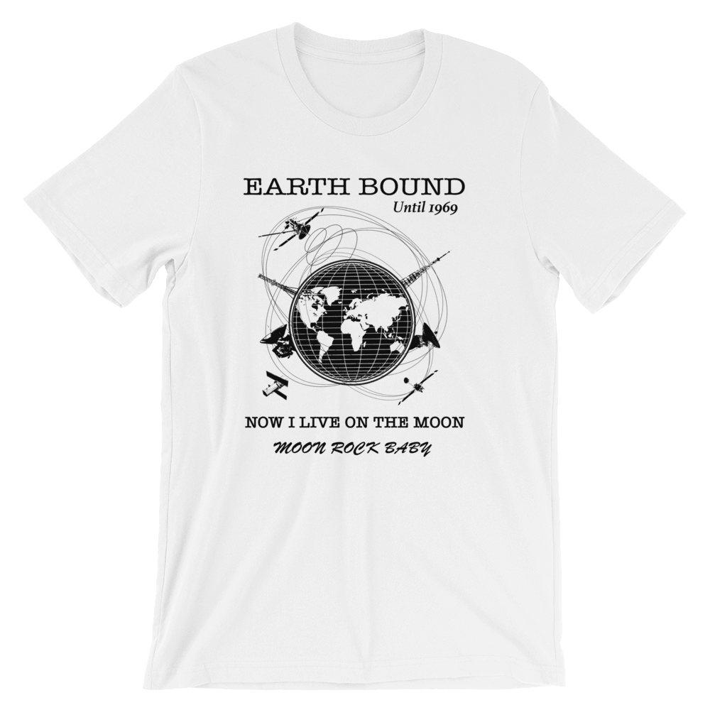Earth Bound Unisex T-Shirt, White, PhD Tee designer Streetwear Tees