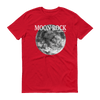 Moon Rock White Print Unisex T-Shirt, Go Red