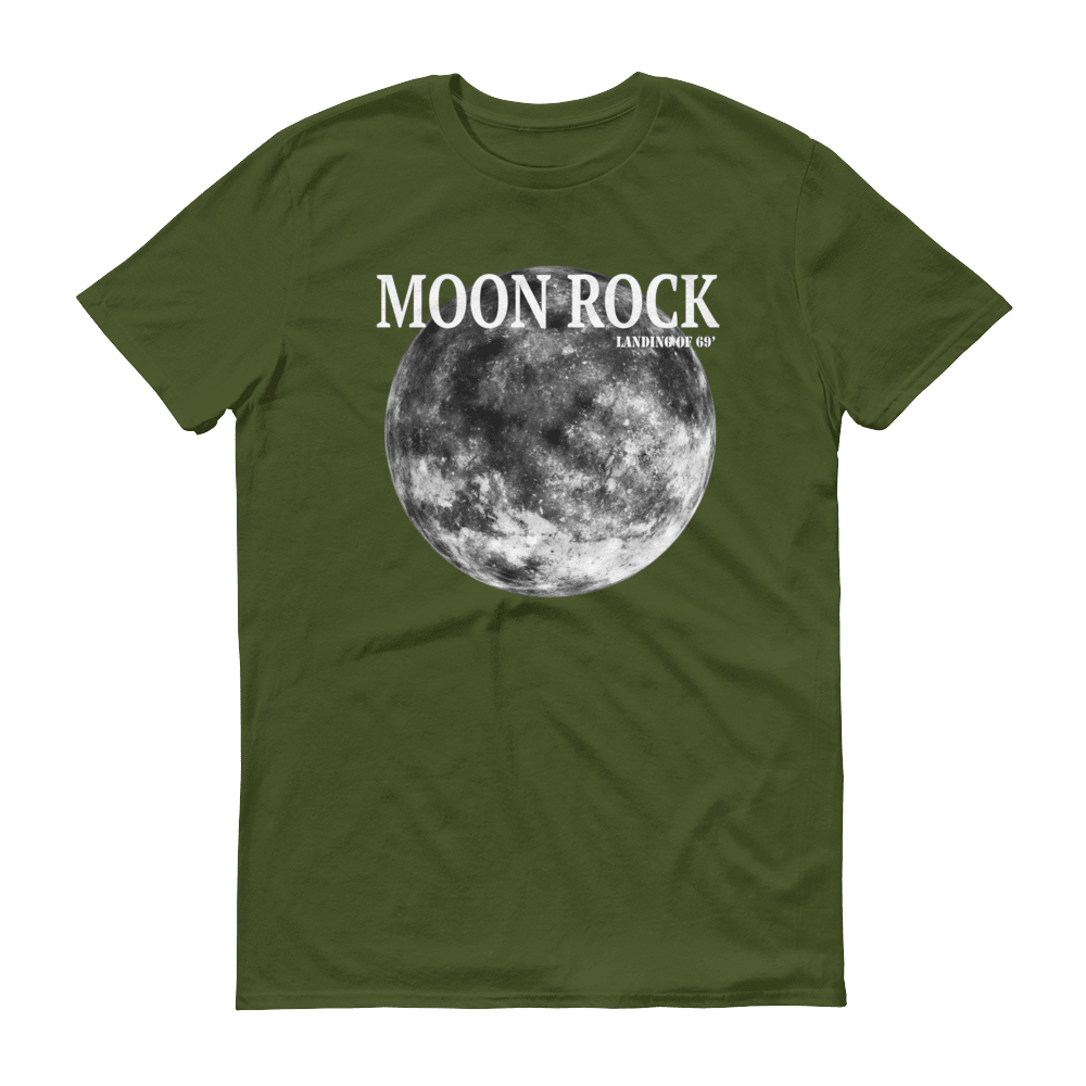 Moon Rock White Print Unisex T-Shirt, Camouflage