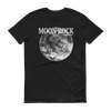 Moon Rock White Print Unisex T-Shirt, Black
